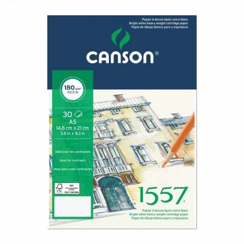 Block Canson 1557 A4 180 grs