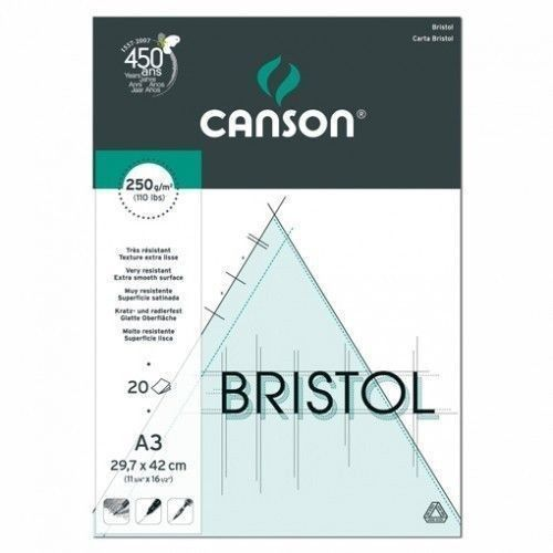 Block Canson Bristol A3 250 grs