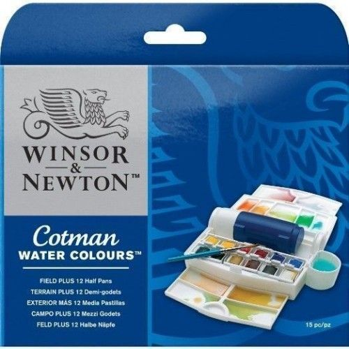 COTMAN WATER COLORS FIELD PLUS 12 U