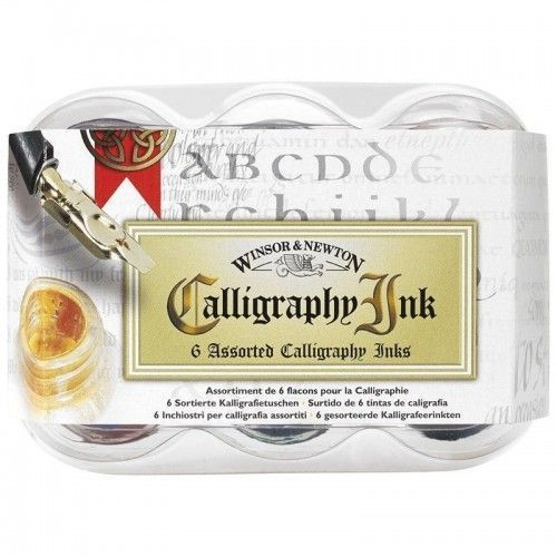 SET TINTAS W&N CALLIGRAPHY 6 COLORES 30ML