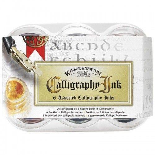 SET TINTAS W&N CALLIGRAPHY 6 COLORES 30ML