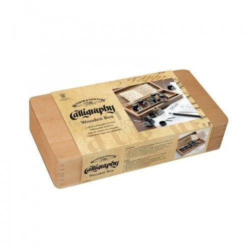 SET TINTAS W&N CALLIGRAPHY WOODEN BOX
