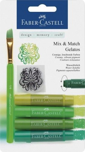 Ceras acuarelables Gelatos verdes 6 piezas
