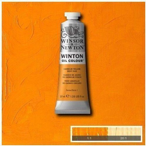 Oleo Winsor & Newton amarillo de cadmio profundo
