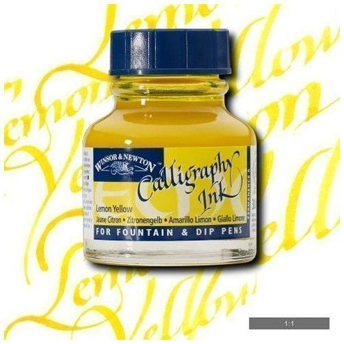 Tinta caligrafica W&N amarillo Limon