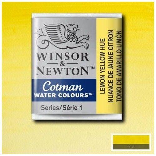 Acuarela en pastilla W&N amarillo limon