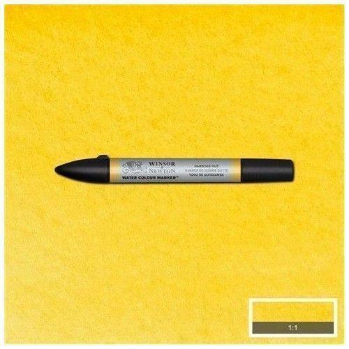 Bruspen de acuarela W&N amarillo gutagamba