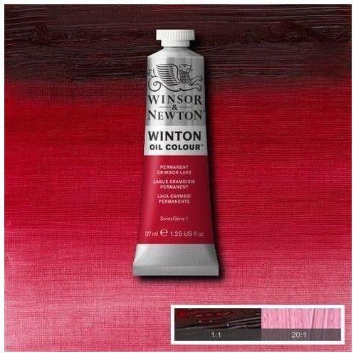 Oleo Winsor & Newton laca carmesí permanente