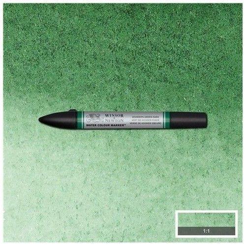 brushpen de acuarela W&N verde de Hooker oscuro