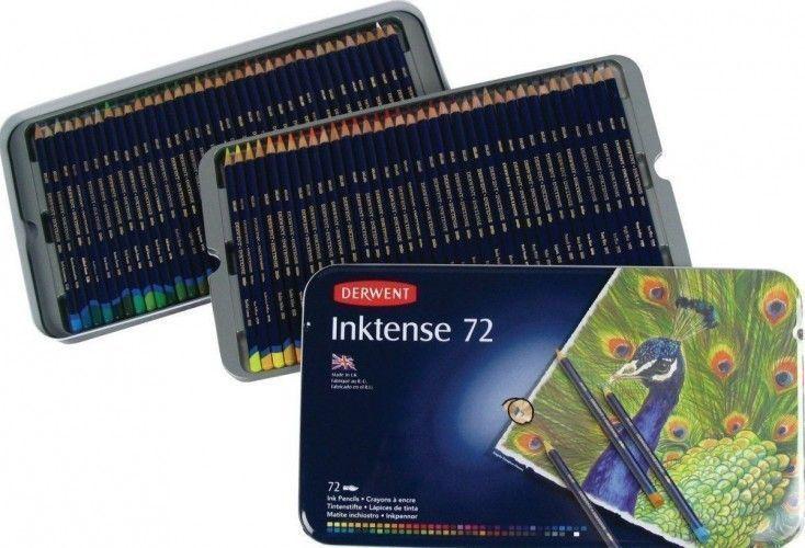 Lápices Inktense Derwent 72 unidades