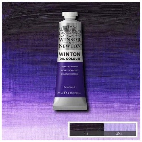 Oleo Winsor & Newton púrpura dioxazina