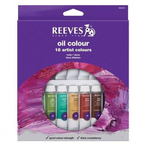 Set Oleos Reeves 18 unidades