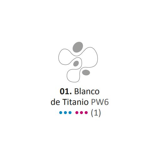 Acrílico Eterna Profesional 700ml Blanco de titanio