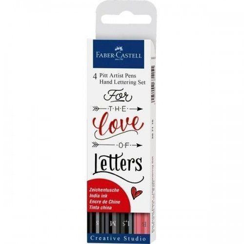 Estuche Hand Lettering con 4 rotuladores Pitt Artist Pen