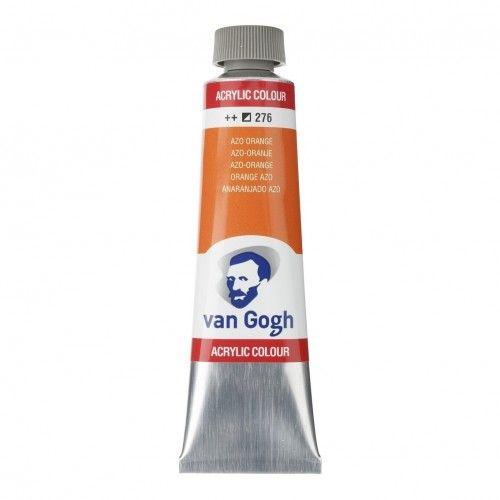 Acrílico Van Gogh anaranjado azo