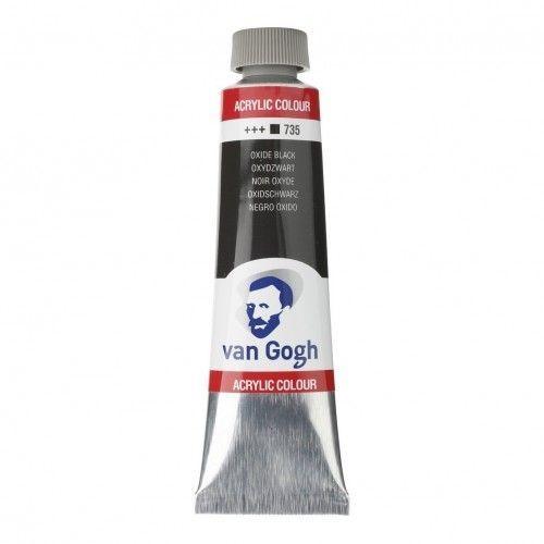 Acrílico Van Gogh Negro Óxido