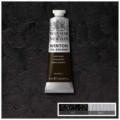 Oleo Winsor & Newton negro marfíl