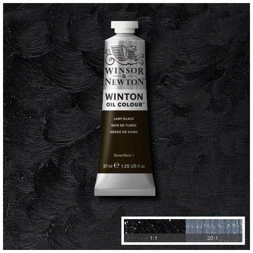 Oleo Winsor & Newton negro humo