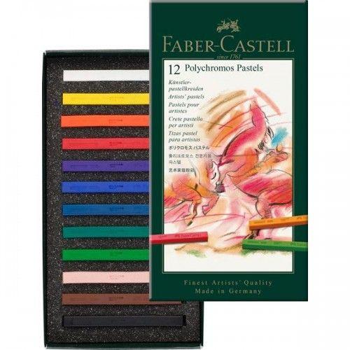 Pasteles Polychromos estuche x12 colores
