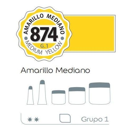 Acrilico Alba 60ml Amarillo mediano