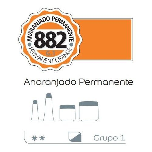 Acrilico Alba 60ml Anaranjado permanente