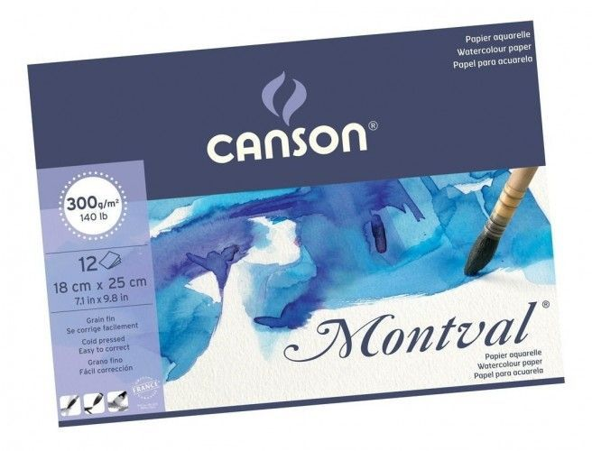 Block Canson Montval 18x25 300grs
