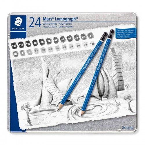 Lapices grafitos Staedtler Lumograph 24 unidades