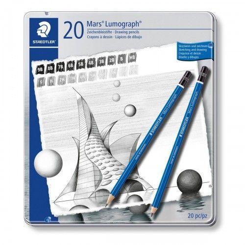 Lapices grafitos Staedtler Lumograph 20 unidades
