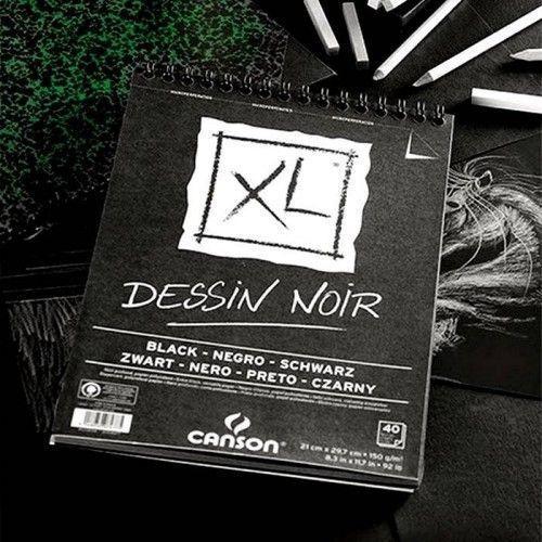 Block Canson XL Desin Noir A4 150grs