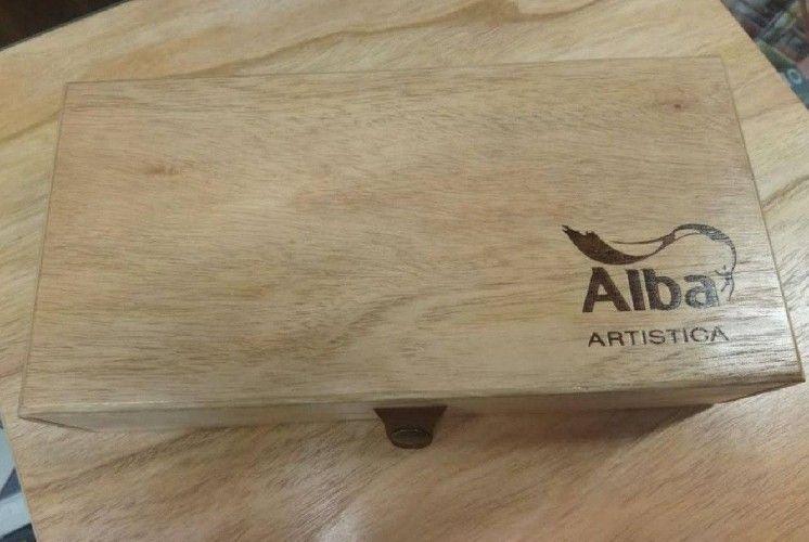 Estuche de madera Mediana acrilicos Alba