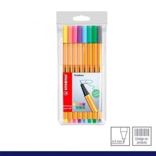 Set Stabilo 88 pastel 8 uniadades