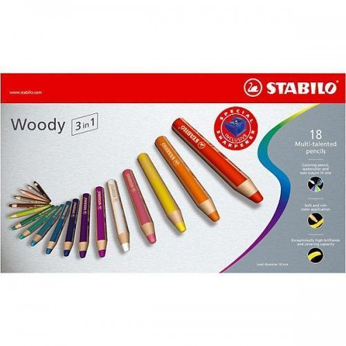Lapices Stabilo Woody 18 unidades