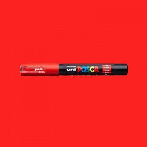 Marcador Posca 1M rojo
