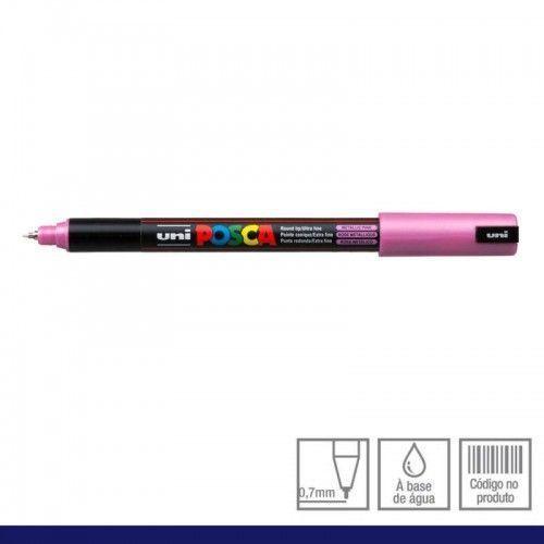 Marcador Posca 1MR rosa metalizado