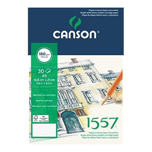 Block Canson 1557 A5 180grs
