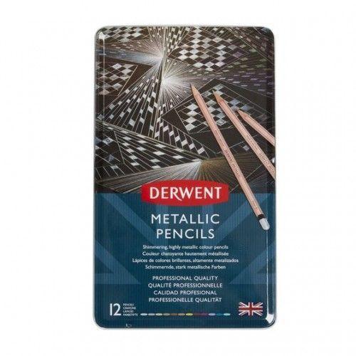 Lapices Derwent Metallic 12 unidades