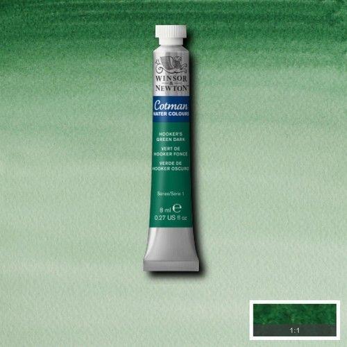 Acuarela Cotman verde de Hooker oscuro