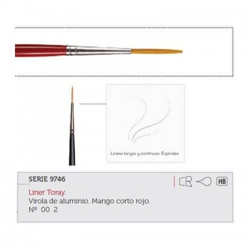 Pincel liner toray Hobby Art Nº00