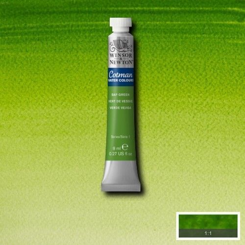 Acuarela Cotman verde vejiga