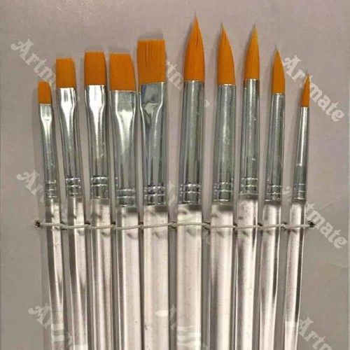 Set de pinceles sintéticos 10 unidades