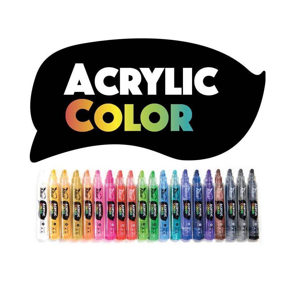 Marcadores Acrylic Color M 5 unidades