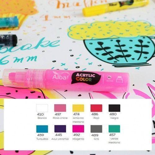 Marcador Alba Acrylic Color 15mm 3 Unidades
