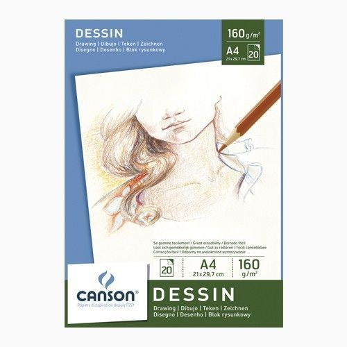Block Canson Dessin 160grs 20hjs A4