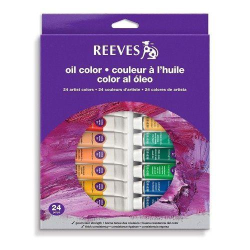 Set Oleos Reeves 24 unidades
