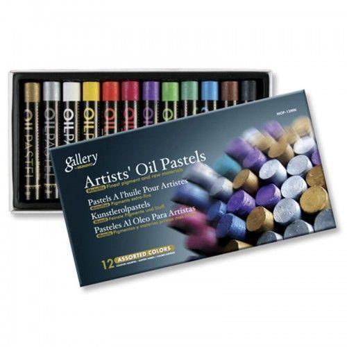 Pastel al oleo Gallery Mungyo 12 Metalizados