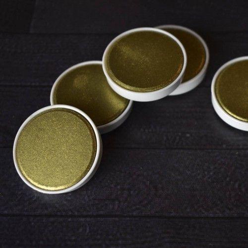 Acuarela en pastilla Finetec oro