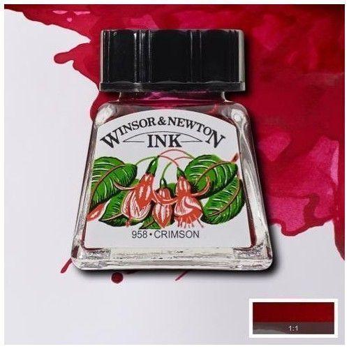 Tinta W&N carmesí