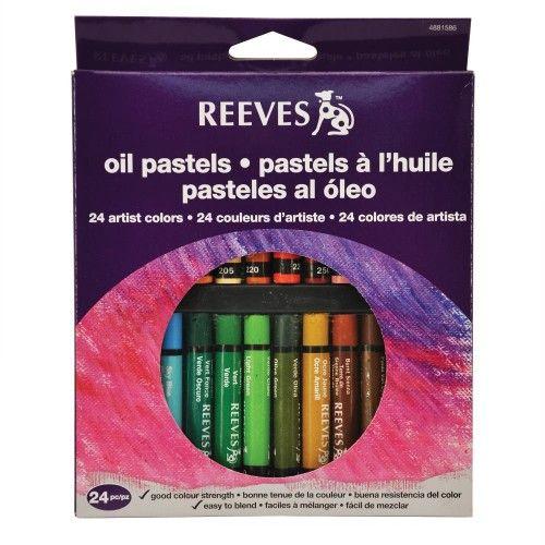 Set Oleo Pastel Reeves 24