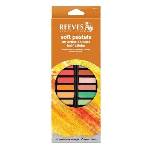 Set Pastel tiza cortos Reeves 32 unidades