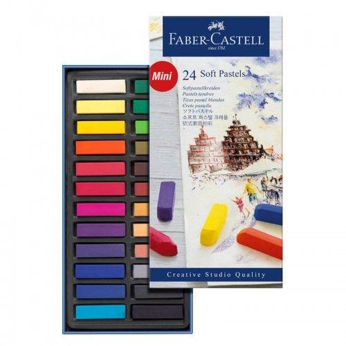 Estuche 24 Mini Pasteles blandos Faber Castell